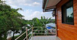 ขายบ้านริมน้ำ พร้อมที่ดินติดแม่น้ำนครชัยศรี ท่าจีน ขนาด 122.7 ตารางวา 3 ห้องนอน พร้อมศาลาริมน้ำ