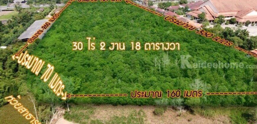 ขายที่ดิน ติดถนนเพชรเกษม 30 ไร่ 2งาน 18 ตารางวา ใกล้ร้านอาหารคุณสาหร่าย ไม่ถึง 50 เมตร ต.ท่าข้าม อ.ท่าแซะ จ.ชุมพร