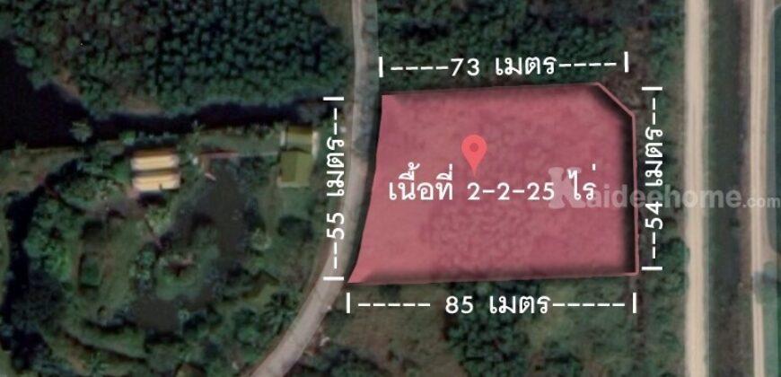 ขายที่ดินปทุมธานี ถมแล้ว 2 ไร่ 2 งาน 25 ตารางวา แปลงสวย โครงการ สวนสายธาร อ.คลองหลวง จ.ปทุมธานี