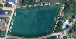 ขายที่ดิน หนองอ้อ อ.บ้านโป่ง จ.ราชบุรี แปลงมุม 4-2-6 ไร่ (1,806 ตารางวา) ติดถนน 2 ด้าน