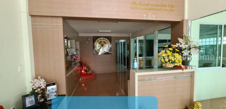 อาคารพาณิชย์3 ชั้น พร้อมชั้นลอยดาดฟ้าสำนักงานพร้อมอยู่อาศัยในแหล่งเจริญพระราม 2
