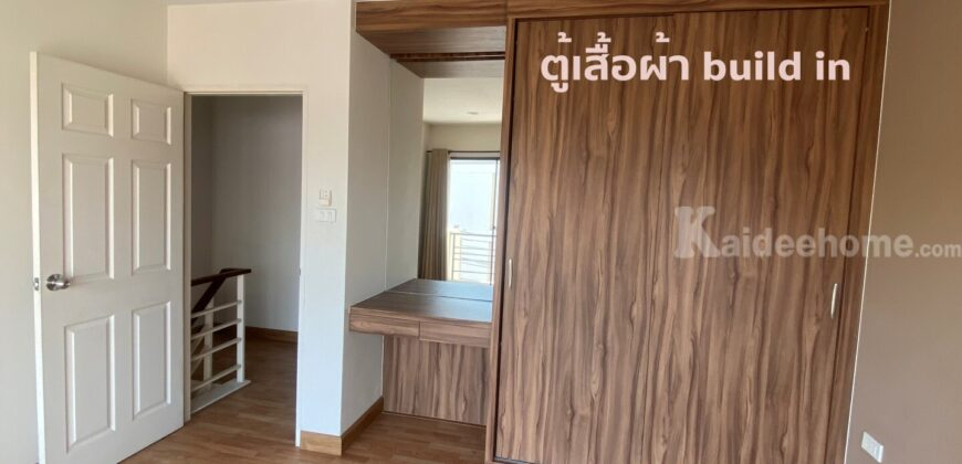 ขายทาวน์โฮม 3 ชั้น หมู่บ้านทรัพย์ธานีทาวน์โฮม บ้านหัวมุม ทิศตะวันออก เมืองระยอง