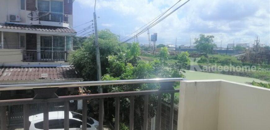 ขาย ทาวน์โฮม 3 ชั้น ม.ศุภาลัยวิลล์ ศรีนครินทร์ กิ่งแก้ว หลังริม ใกล้ MRTสายสีเหลือง สถานีศรีเทพา