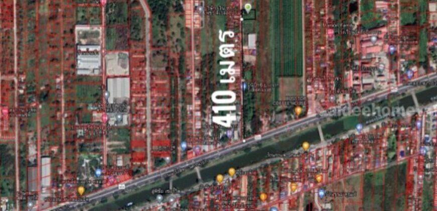 ทำเลงาม ใจกลาง ความสะดวก ขาย ที่ดิน 1 ไร่ คลอง 8 ธัญบุรี ซอยคุณสัมฤทธิ์ห่างถนนรังสิต นครนายก 400 เมตร ปากซอยมี