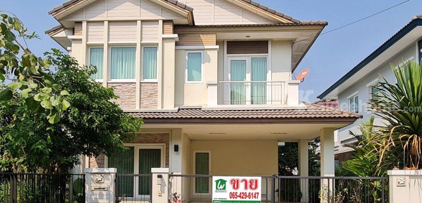 บ้านเดี่ยวสุดคุ้ม บ้านมัณฑนา บางนา กม. 13 หลังริม ห่างจาก เมกา บางนา 5 กม